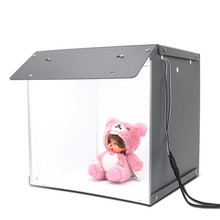 SANOTO caja de luz para mesa de fotografía, 16x16 pulgadas, 102 Uds., luces LED regulables, portátil, plegable, tienda de fotografía para estudio fotográfico, Softbox