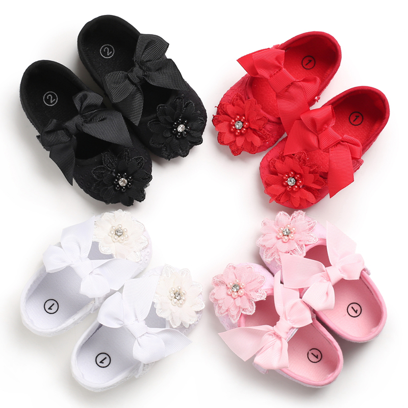 Party Ballerina Booties Christening Baptism Kids Girls Baby Flower Shoes Baby Rhinestone Girl Baby Shoes First Walker