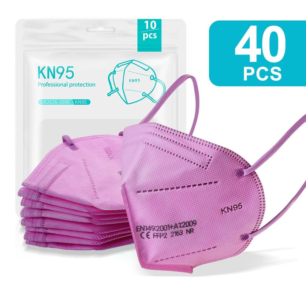 40PCS Pink-KN95