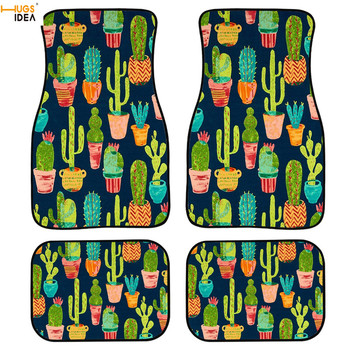 3D Interior Protection Car Carpets Auto Fit Floor Mats No Slip Rug Cactus printing Car Dust proof Mats Protection Universal Fit