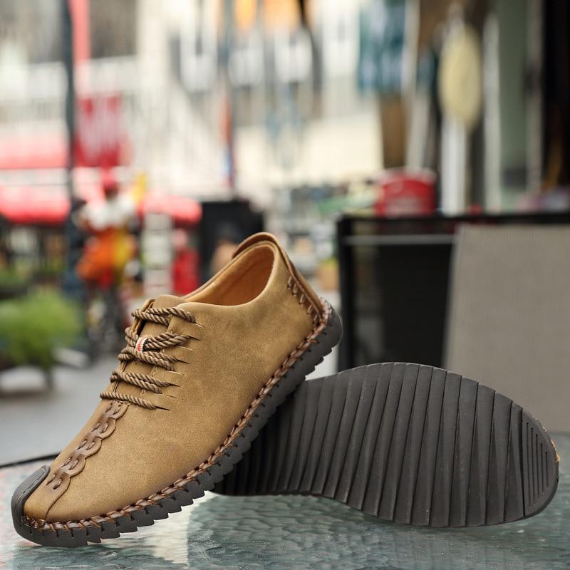 Sapatos Feitos À Mão dos homens Novos Sapatos Casuais Respirável Dos Homens 2019 Sapatos Preguiçosos Modelos Explosão Sapatos homens de Grande Porte