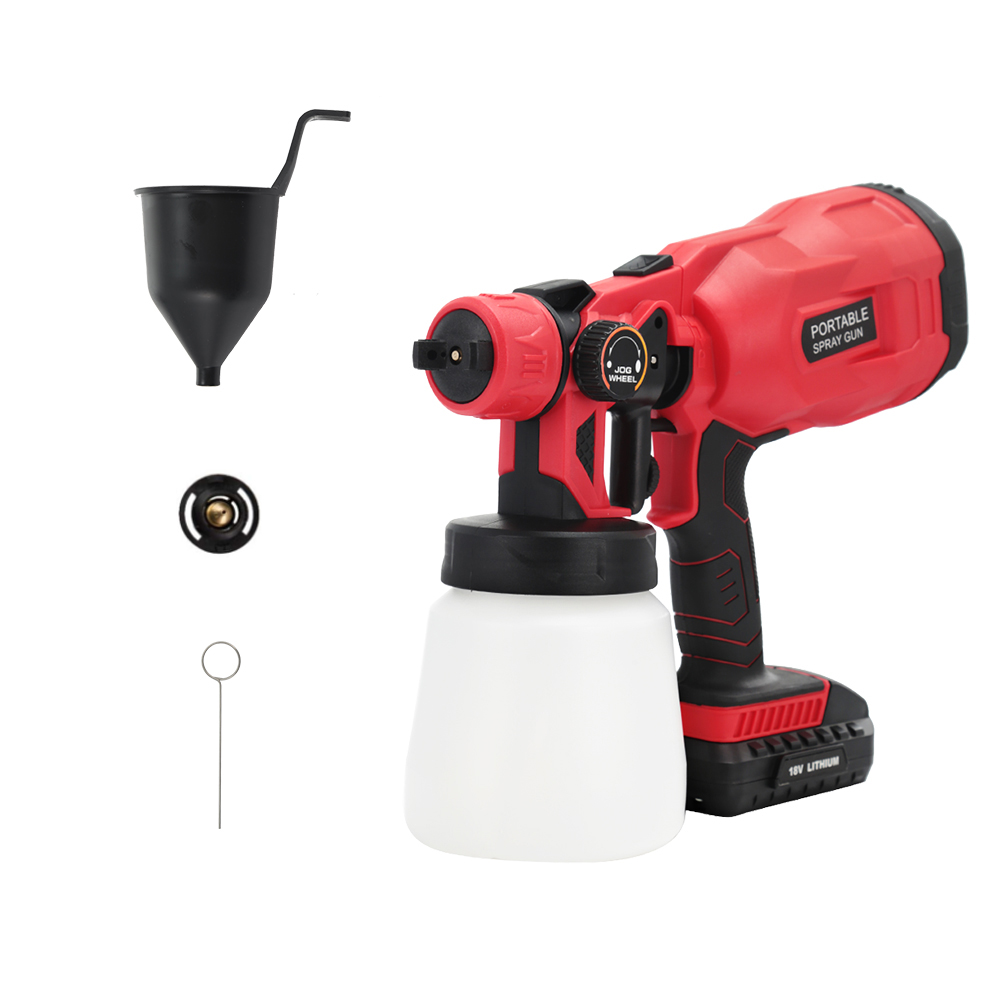 18V Cordless Spray Guns Paint Airbrush Sprayer With 1.8mm Nozzle For Painting Car Wood Furniture Wall Paint Gun With 2Ah Battery