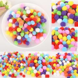 Tamanho 100-500pcs10 da mistura/15/20/25/30mm cor misturada aleatória pompom macio pom bolas para diy crianças brinquedos vestuário artesanato acessórios