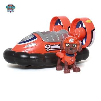 Genuine paw patrol toy anime character Zuma Rocky Skye Ryder action figure model Patrulla Canina Toys kids birthday gift