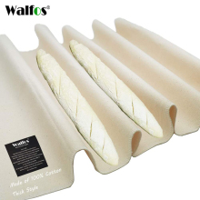 WALFOS Thick Fermented Linen Cloth Proofing Dough Bakers Pans Bread Baguette Baking Mat Pastry Baker's Couche Proofing Cloth