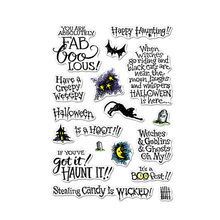Halloween Phrases Clear Stamps Phrases&Ornaments For DIY Card Making Kids Transparent Silicone Stamp New 2019