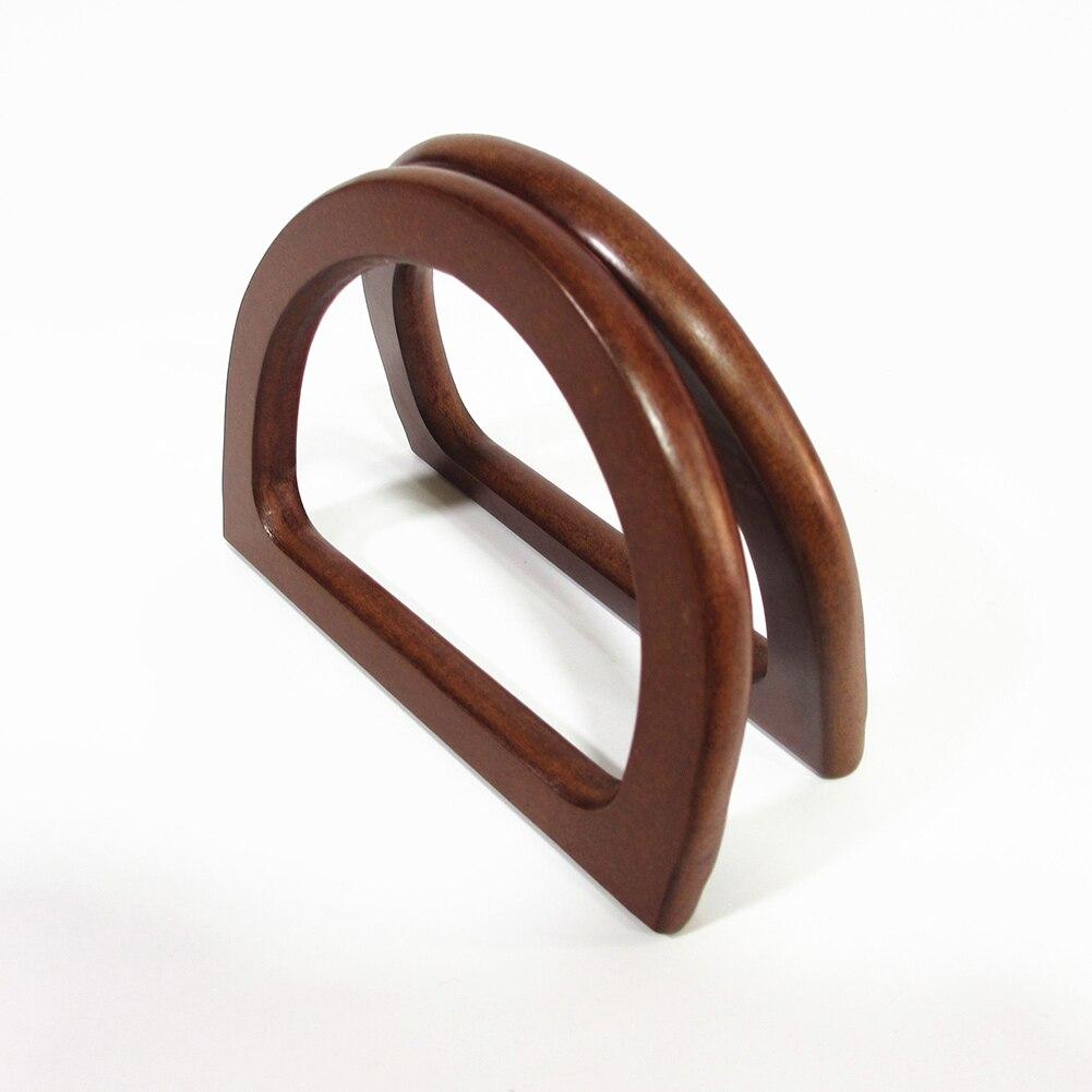 Replacement Round D Shape Wooden Bag Handles Handmade Handbag Handle DIY Tote Purse Frame DIY Handle Accessories For Bags