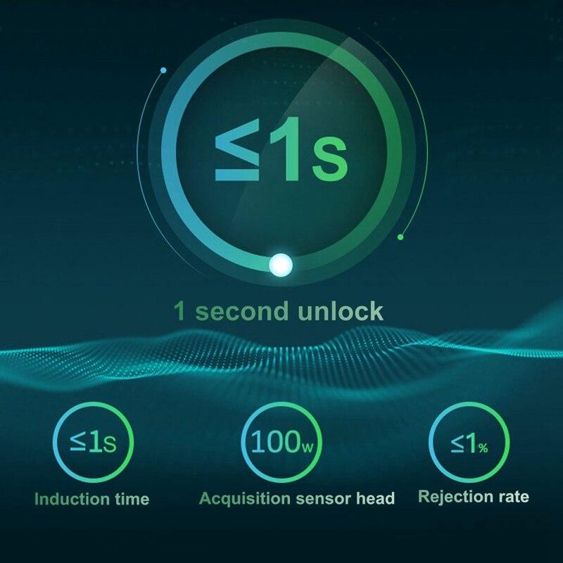 Купить с кэшбэком Smart Fingerprint Lock Electric Biometric Door Lock USB Rechargeable IP65 Waterproof Bluetooth Electronic Lock Car Lock Student