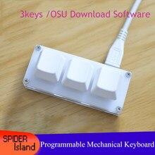 Teclado mecânico com software osu! Teclado para o teclado do jogo da chave do windows 3 que programa a troca quente para o atalho ps/sorteio