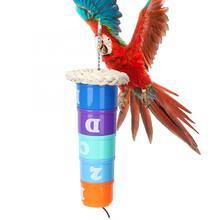 Игрушки для домашних птиц пластиковые DIY Pet Bird Parrot многослойная Кормушка Для поджигания чаша игрушка для укуса длиннохвостый попугай Австралийский попугай Lovebird Finch