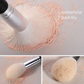 BEILI Black Makeup brushes set Professional Natural goat hair brushes Foundation Powder Contour Eyeshadow make up brushes 4