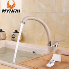 MYNAH Kitchen Sink Faucet Hot And Cold Water Mixer Faucets Single Handle Swivel Spout Kitchen Water Sink Mixer Tap M5925D