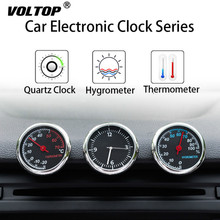 Clock Hygrometer Thermometer Car Accessories Interior Dashboard Car Decorations Ornaments Pendant Quartz Watches