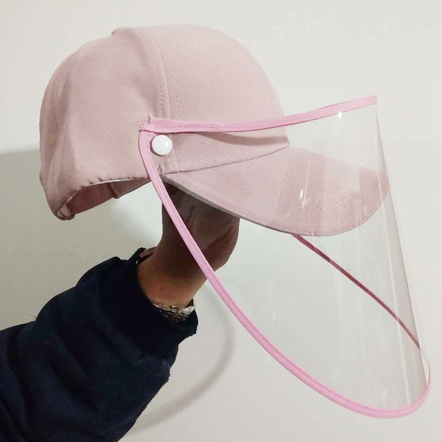 NEW-Face Shield Protective Baseball Cap for Anti-Fog Saliva Sneeze Adjustable Shield Protection 2