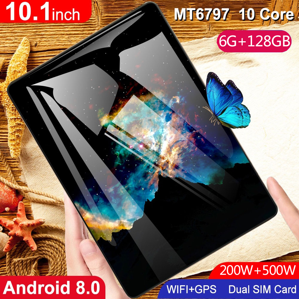 High Cost Performance Ratio Hot Sell 10.1 Inch Tablet  6G+128GB Cheap Tablets Android 8.0 4G Network Octa Core Dual SIM Card