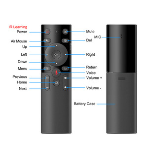 Image 4 - H17 Stimme Fernbedienung 2,4G Wireless Air Maus mit IR Lernen Mikrofon Gyroskop für Android TV Box HK1 Max x88 pro