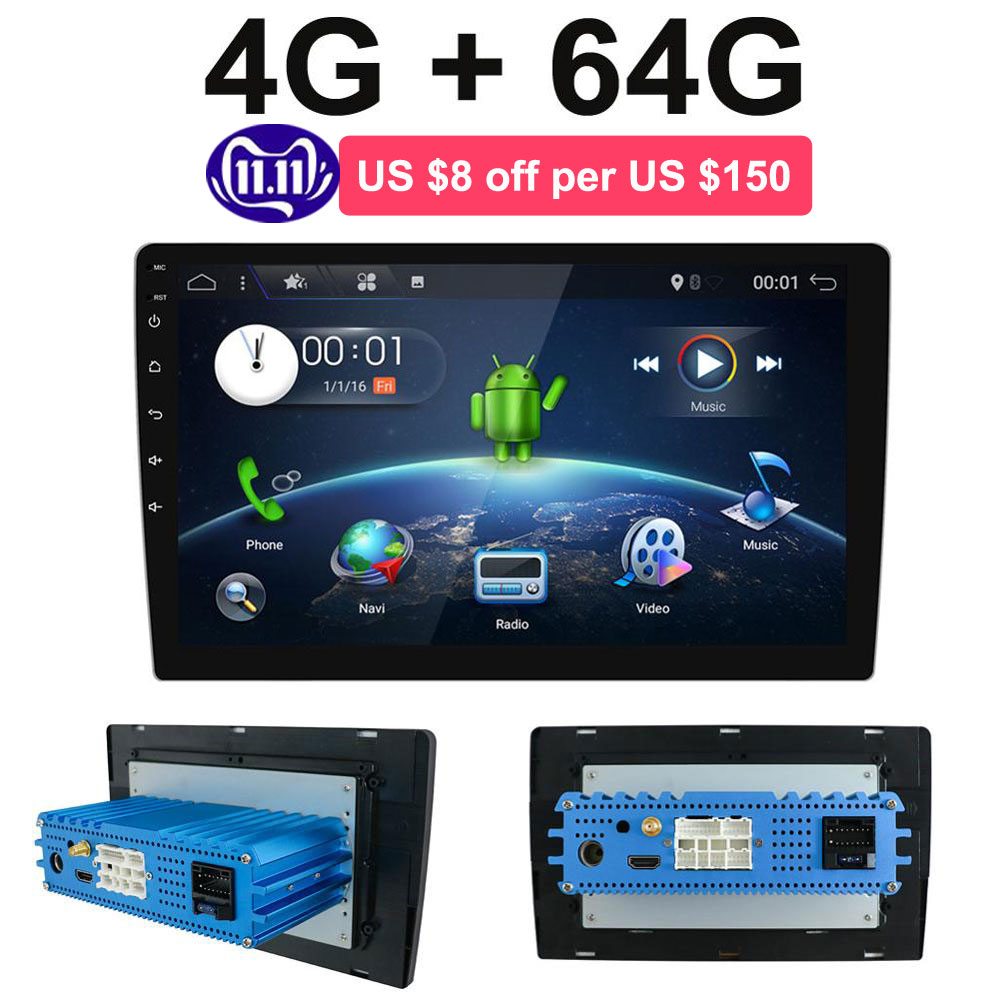 2 din Android 9.0 Octa Core PX6 Car Radio Stereo GPS Navi Audio Video Player Unit PC Wifi BT HDMI AMP 7851 OBD DAB+ SWC 4G+64G image