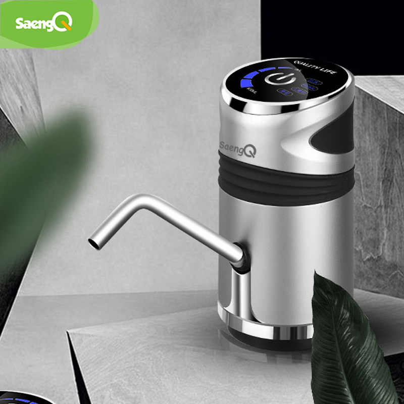 SaengQ Hause Wasser Flasche Pumpe USB Lade Automatische Trinkwasser Pumpe Tragbare Elektrische Wasser Spender Wasser Flasche Schalter