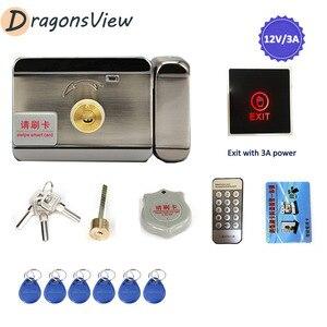 Dragonsview металлический замок электрических ворот, система доступа, дверной замок для дома, видео, домофон с управлением 3 А