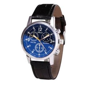 Нейтральные кварцевые часы Blue-ray с кожаным ремешком, имитирующим запястье, бесплатная доставка
