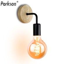 Lámpara de pared de madera Vintage Industrial luces de pared regulables Retro E27 bombilla de luz de pared para el hogar Loft accesorios de decoración interior