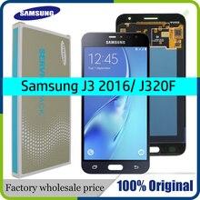 """الصف AAA 5.0 """"شاشات LCD لسامسونج J3 2016 عرض J320 J320F J320FN LCD محول الأرقام بشاشة تعمل بلمس لسامسونج غالاكسي J3 2016 عرض"""