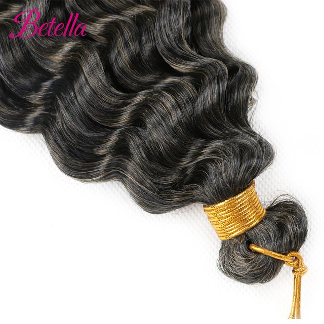 Deep Water Wave Twist Crochet Hair Crochet Braid Ombre Braiding Hair Extensions Synthetic Afro Curls For Women Low Tempreture 3