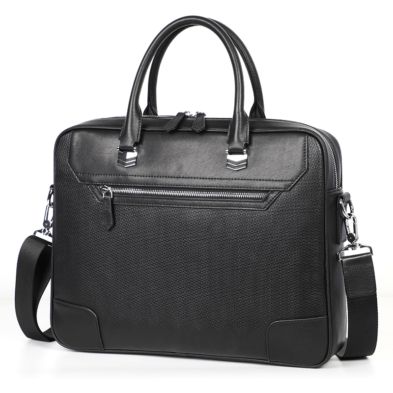 Simple Famous Brand Business Men Briefcase Luxury Genuine Leather Laptop Bag Man Shoulder Bag Office Bags For Men Tote Bags Male