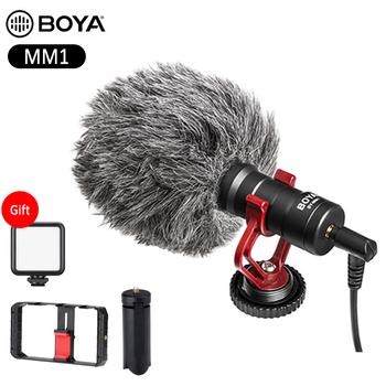 BOYA BY-MM1 Video Recording smartphone microphone for iPhone Android mobile phone DJI Osmo Pocket DSLR Camera Youtube studio Mic boya anti shock mount for by mm1 microphone
