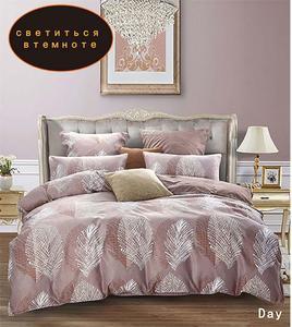 Image 3 - YAXINLAN постельное белье комплект хлопок подсветки двухцветный цветы рисунок простынь пододеяльник наволочка 4 7 части