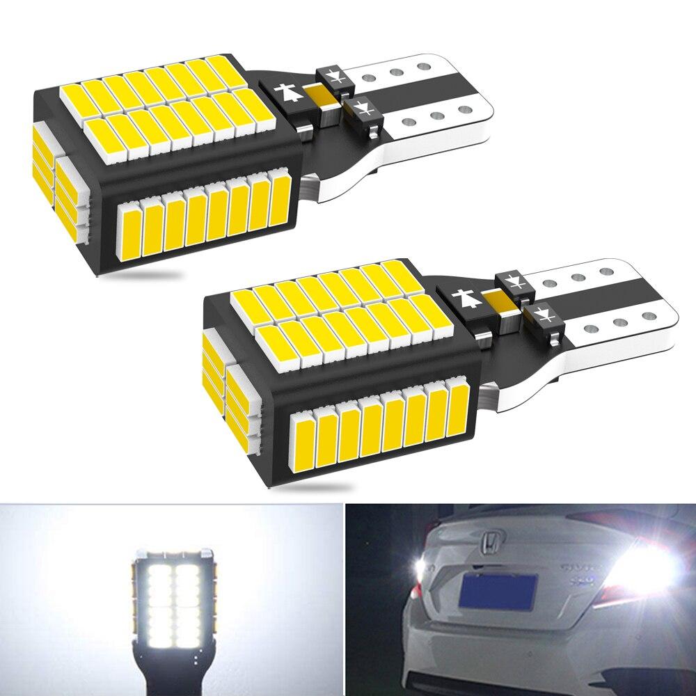 2X супер яркий новый T15 W16W WY16W светодиодный автомобиля задние светодиодные лампы стоп сигнала поворотники Canbus Авто Bcakup Обратный лампа светил...