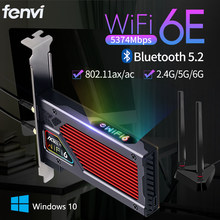 Fenvi FV-AXE3000 Wi-Fi 6E AX210 Bluetooth 5.2 Wireless 5374Mbps 2.4G/5GHz/6G WiFi 802.11AX/AC PCIExpress Network Card Adapter PC