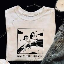 Tylko odważny Louis Tomlinson T koszula kobiety 2021 kobiet bawełna graficzne koszulki Harajuku letnie bluzki Unisex i koszulki koszulka damska