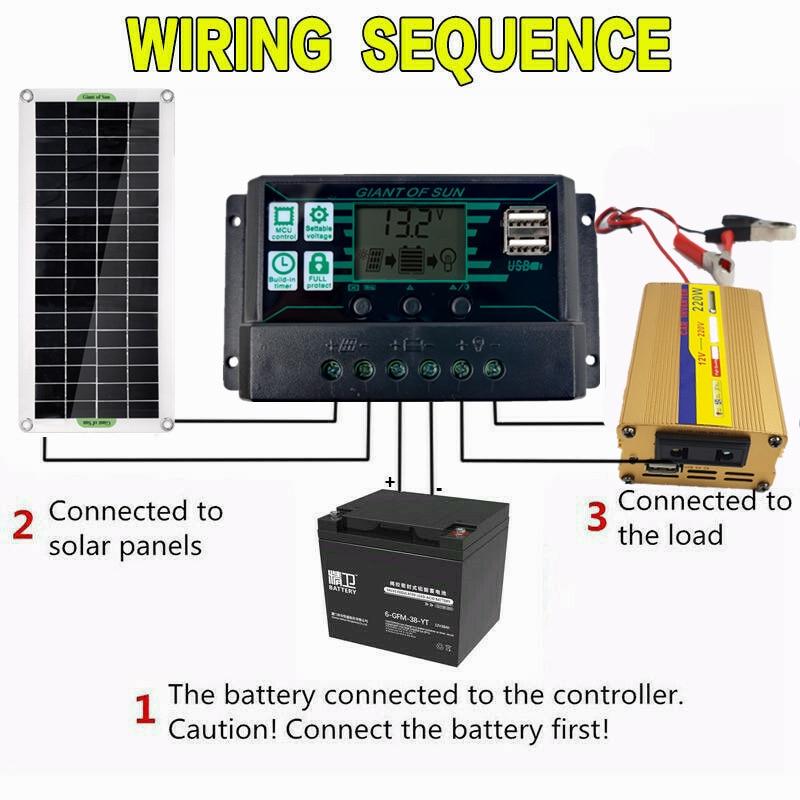 sistema de energia solar 220v 30w painel 01