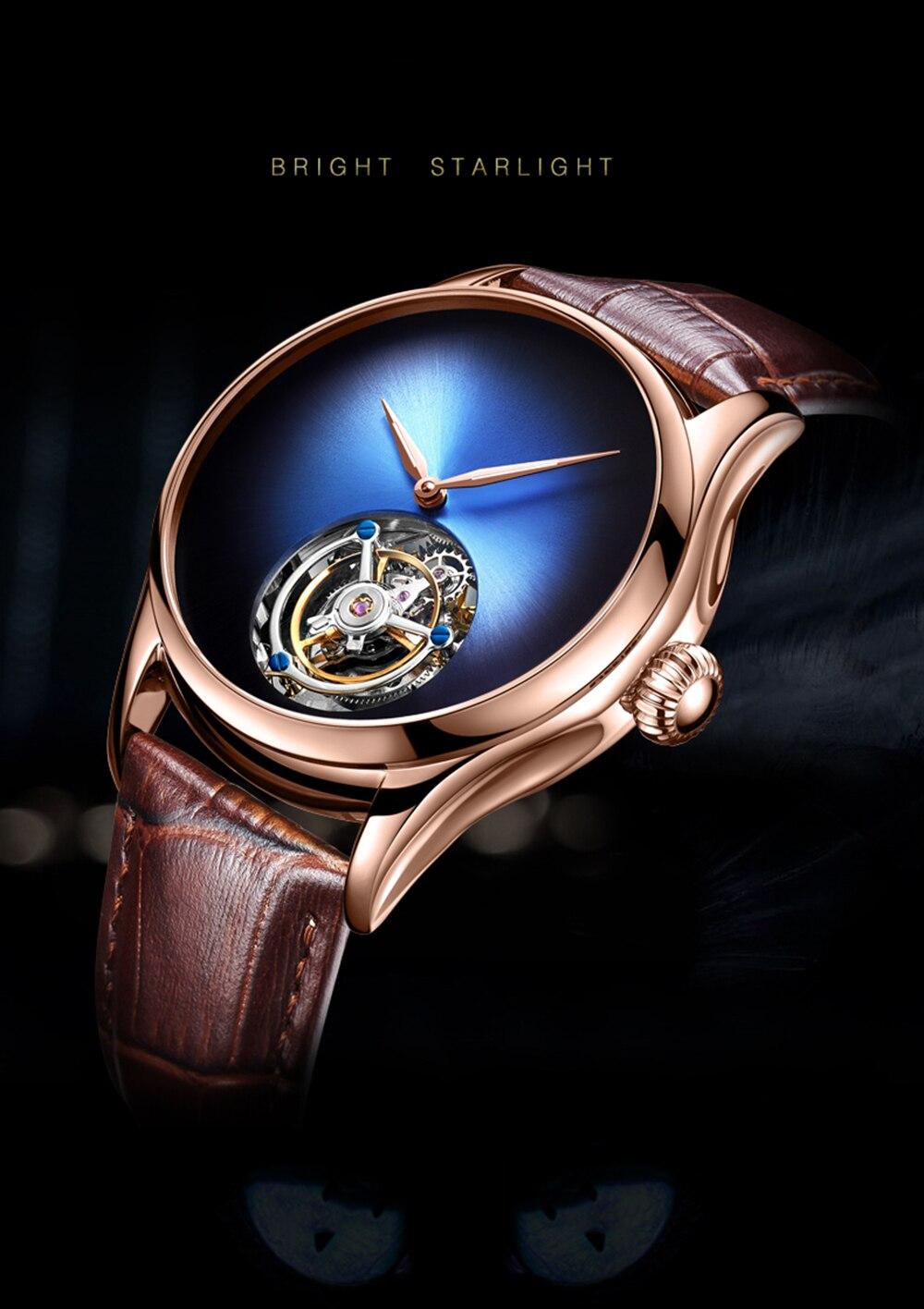 GUANQIN 2019 Tourbillon Men watches top brand luxury 100% real Tourbillon clock men Sapphire mechanical watch Relogio Masculino 3