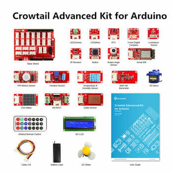 Elecrow Crowtail Advanced Kit for Arduino Starters Kit DIY Maker Programming Leaning Kit with 22 Modules for Building Projects - Category 🛒 Electronic Components & Supplies