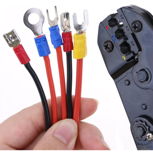 Image 3 - Alicates de crimpado de colores, conectores de terminales de cable aislados profesionales, herramienta de crimpado de trinquete para 22 10AWG LY 03C/HS 30J