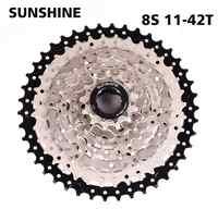 Bike Freewheel SUNSHINE MTB 8S 11-32 36 40 42T MTB Mountain Bike Flywheel 8 24 Speed Cassette Sprocket For 8 speed