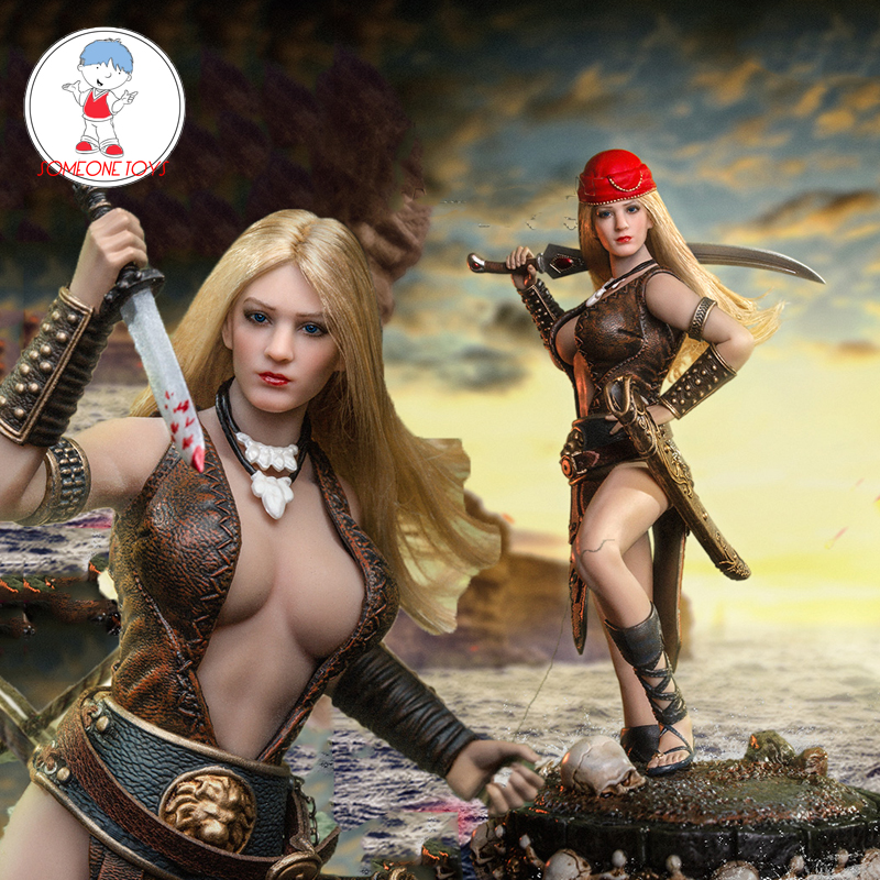 TBLeague PL2019-154 1/12 Scale Arhian Pirate Female Action Figure Model Doll With Ball Joint Seamless Body Figure