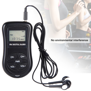 Image 5 - Mini Digital ABS Receiver Radio LCD Display Portable Stereo FM Battery Powered Earphones Black Handheld Pocket