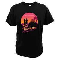 San Junipero t-shirts fantaisie série TV ciel est une Place sur terre chansons t-shirts noir miroir 100% coton taille ue hauts