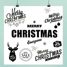 Merry Christmas Clear Stamps For DIY Scrapbooking/Card Making/Album Decorative Rubber Stamp Crafts merry christmas trees sticker painting stencils for diy scrapbooking stamps home decor paper card template decoration album