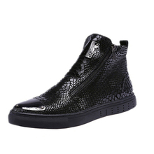 Men Winter Boots Men Leather Boots Casual Leather Shoes Men Boots Fashion Snake Pattern Chelsea Boots Autumn Winter Men Shoes new men autumn and winter leather boots men shoes zipper leather shoes breathable sneaker fashion boots men casual shoes