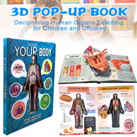 Newly Anatomy of The Human Body in English Popular Science Book 3D Picture Book Early Education Book for Kids gift BN99