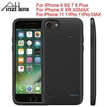 Pinzheng 6200Mah Batterij Oplader Voor Iphone 6 6S 7 8 Plus Opladen Case Voor Iphone X Xr xs Max Draagbare Power Bank Oplader