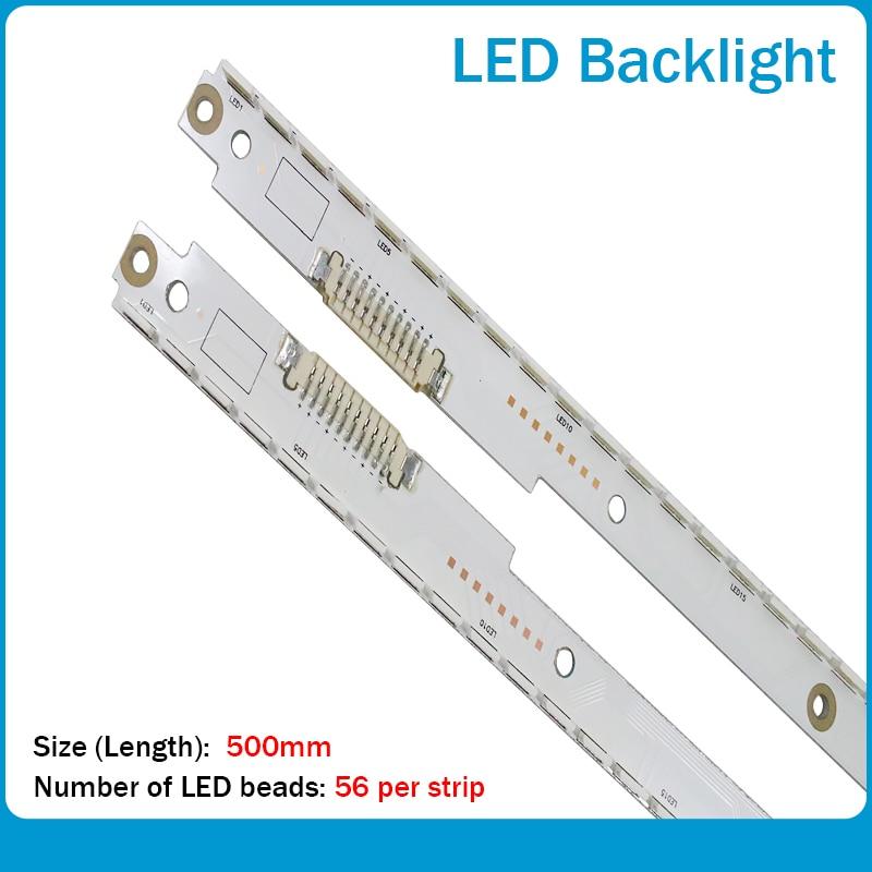 New 2 Piece LED Backlight Lamp Strip For UE40ES6530 UE40ES6800 UA40ES6100 2012SVS40 7032NNB 3D R2GE-400SMB-R3 A BN96-21712A 711A