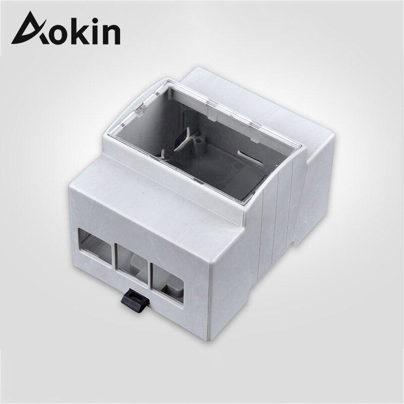 Aokin Raspberry Pi 4 Case ABS White Case Protective Case Enclosure For Raspberry 3B+ 3 Model B RPI 4 Model B