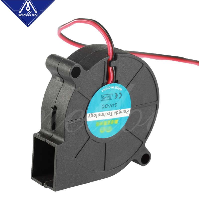 3D Printer Fan 5015 12V 24V 0.15A Glijlager Borstelloze Fan centrifugaal voor Reprap i3 DC Koelventilator turbo fan 5015S