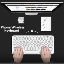 Mobile Phone wireless keyboard Chat Gaming Keyboard Small Compact 78 Keys Wireless Bluetooth Portable Office Switch Battery