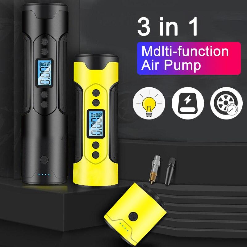 3in1 Portable Car Bike Air Compressor Digital Tyre Inflator Cordless 12V 150PSI